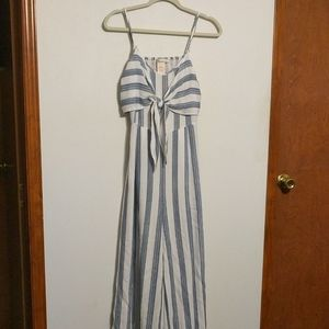 A. Calin by Flying Tomato Striped Wide Leg Jumpsui
